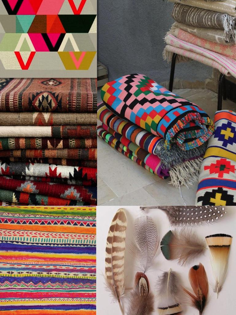 tribal nomad ikat pattern pring boho aztec native feather ... - photo#11
