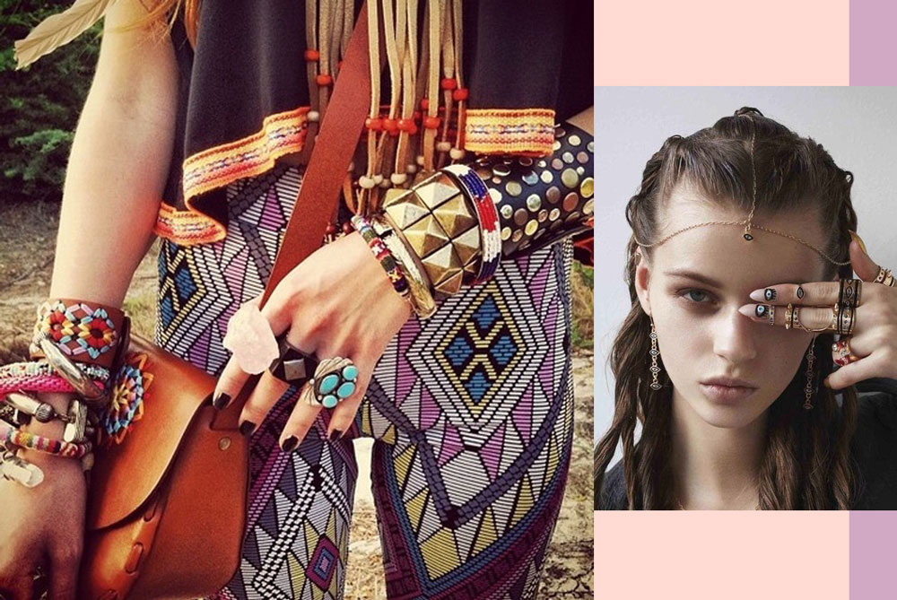 Boho fashion style jewelry accesories rings native blog fashion style inspiration pinterest Bohemian style fashion blogs
