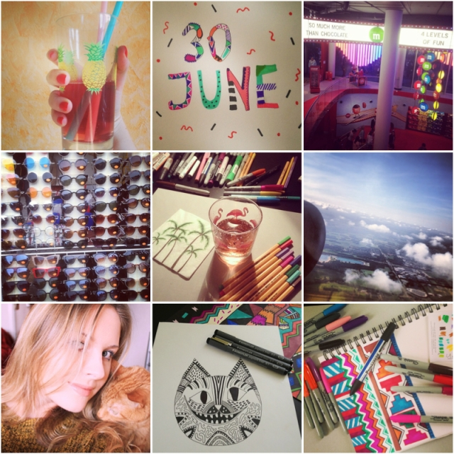 Instagram flamingo pineaple summer birhtday 30 june vasare nar photography photo aztec tribal native drawing sharpie markers stabilo London M&Ms Navajo vasarenar Alice In Wonderland cat designer