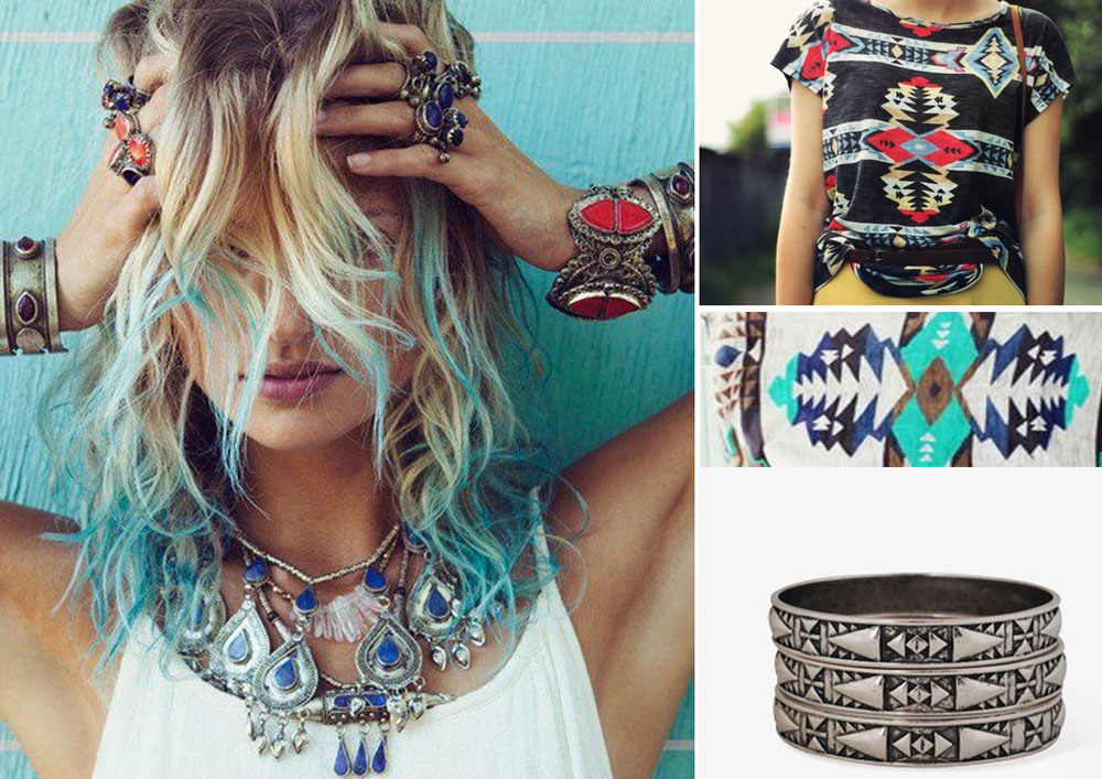 Jewelry Jewelly Fashion Style Boho Blue Hair Candy Pastel Urban Outfitters Silver Accesories Navajo Tribal Top Beach Tumblr