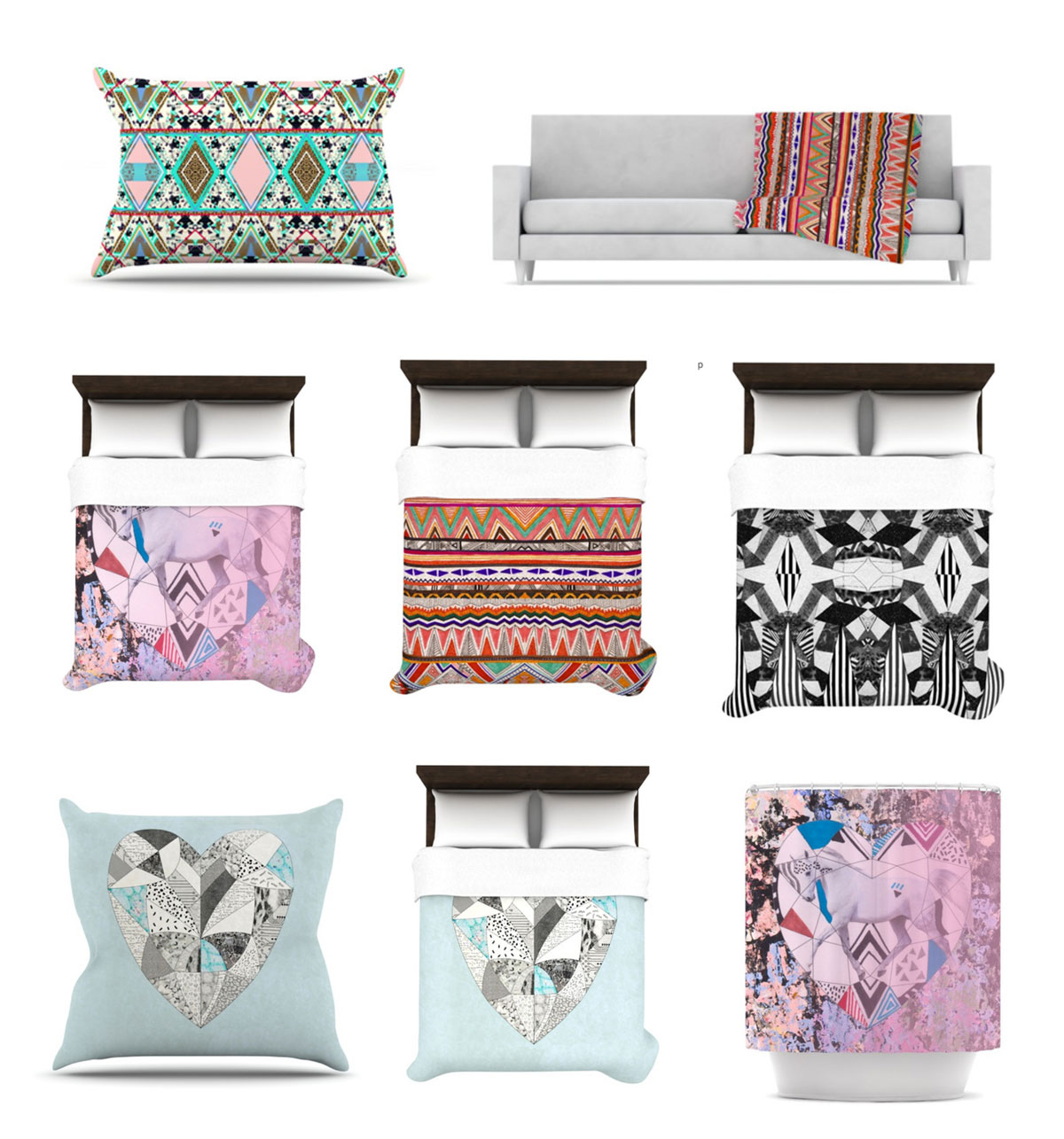 Kess in house home decor products interior style bedroom for Aztec bedroom ideas