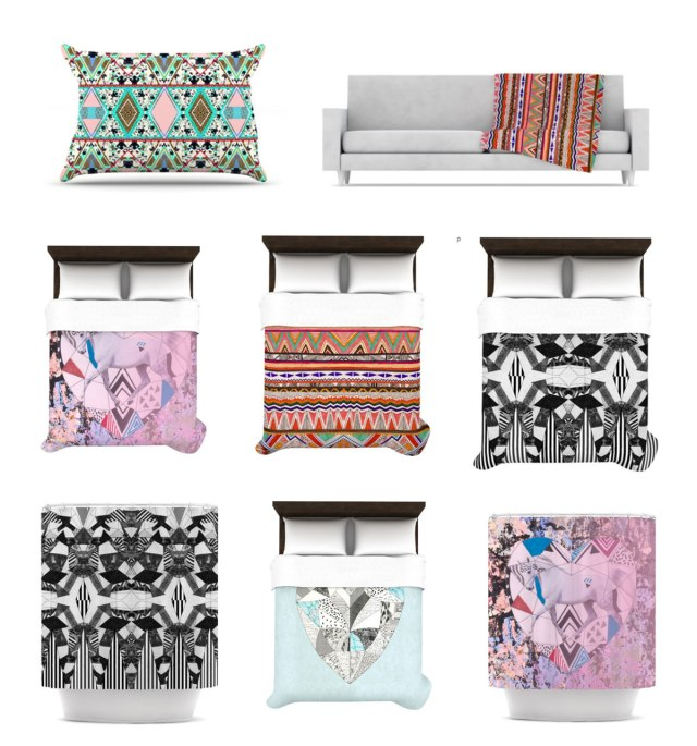 Kess-in-house-home-decor-products-interior-style-bedroom-livingroom-pillow-duvetcovers-deny-designs-throw-style-magazine-shower-curtain-bathroom-blanket-aztec-tribal-native-navajo-unique-trendy-featured-products- dorm