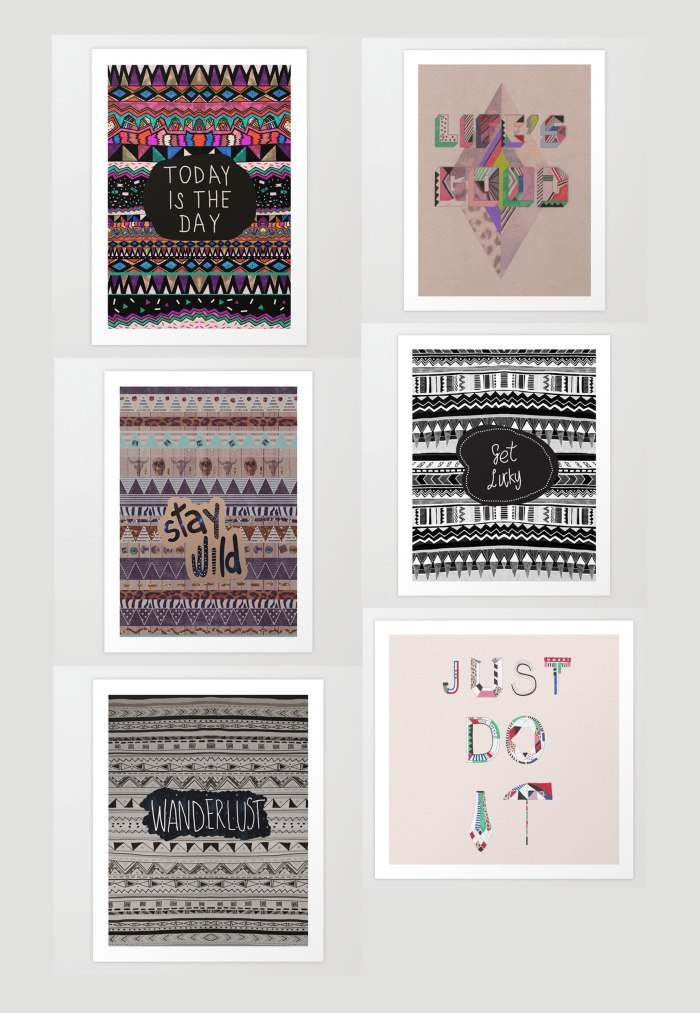 Art-print-typography-mixed-media-aztec-tribal-native-navajo-creative-how-to-creative-vasare-nar-urban-outfitters-dorm-print-for-sale-posters-graphic-design-kitch-peruvian-just-do-it-nike-hipster-tumblr-facebook-society6-