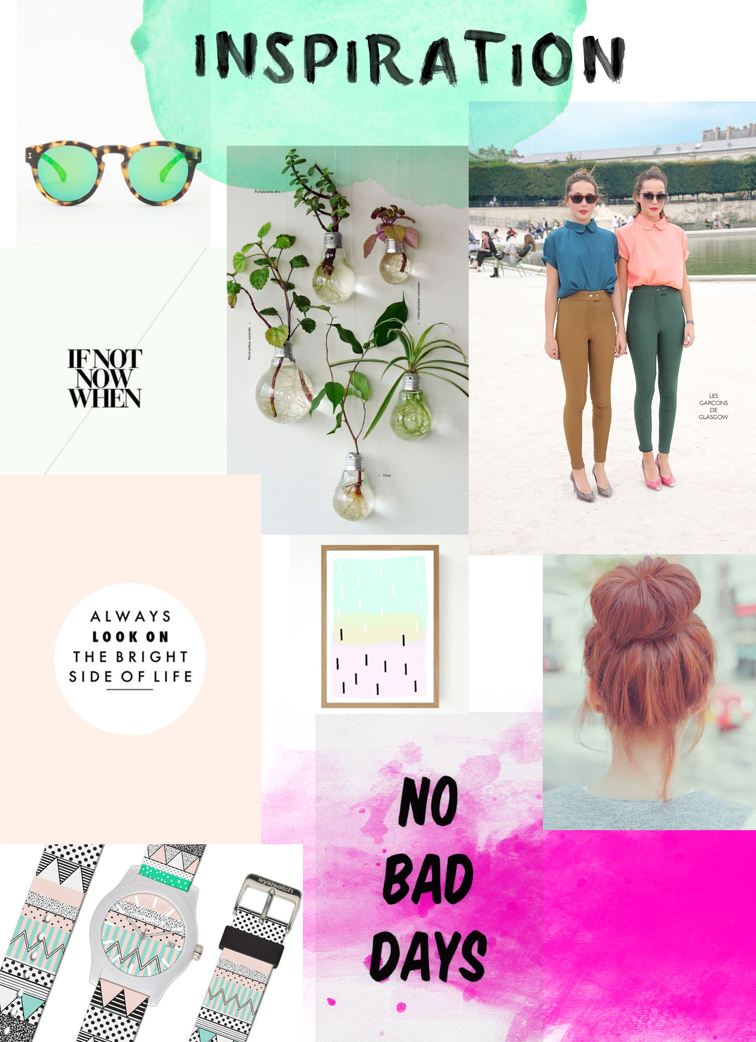 Fashion Designer Watercolour Pinterest Moodboard Trend Wysiwatch Watch Sunglasses Electric Urban Outfitters Topshop Creative Vasare Nar Social Media Marketing Style Collage Layout Magazine Spread Mixed Media Vasare Nar Art Fashion Design Blog