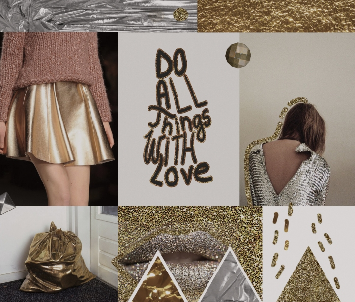 1typography mood.colour-inspiration-gold-metalic-Tungsten-Platinum-steel-fashion-trend-aw-2015-2016-2017-report-metallic-honey-glitter-gold-magazine-layout-collage-moodboard-fashion-style-objects-triangles-geometric