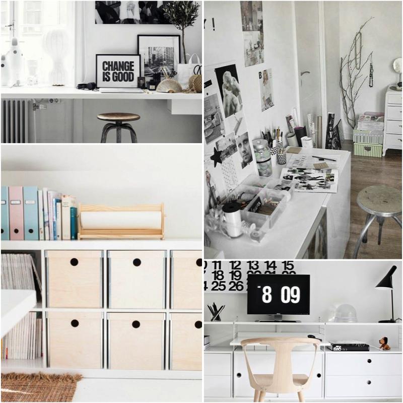 Home Decor Interior Workspace Studio Inspiration Black White  ...