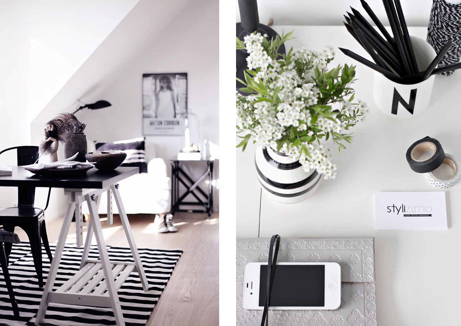Home decor interior workspace studio inspiration black for Home decor inspiration