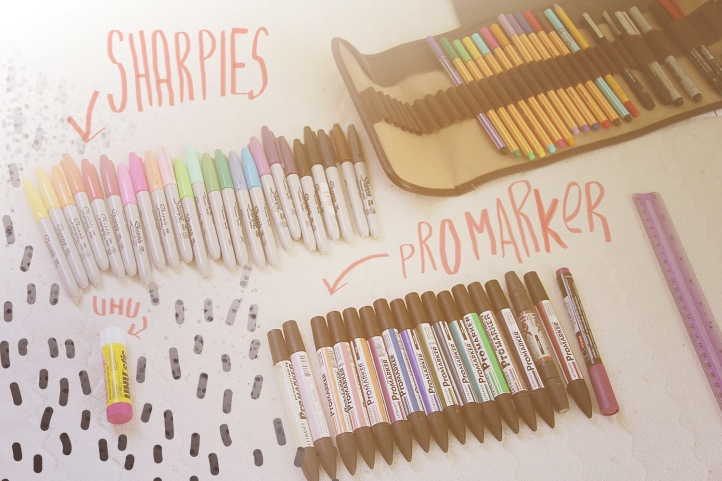 lets-get-creative-sharpies-pro-marker-illustration-drawing-art-diy-work-space-studio-pattern-designer-portfolio-sharpie-uhu-stick-inspiration-motivation-quote-topshop-urban-outfitters-project-abstract