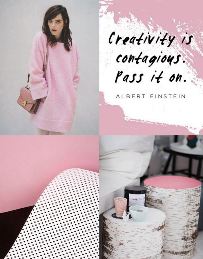 pink-pastel-colour-block-inspiration-typography-fashion-style-trend-albert-einstein-creativity-is-contageos-blog-moodboard-style