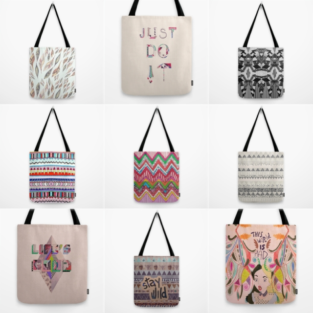 Society6 New tote bags fashion style trend pattern aztec navajo native peruvian alice in wonderland print life is good typography textile fashion trend topshop urban outfitters free people shop sale discount cool hipster trendy new