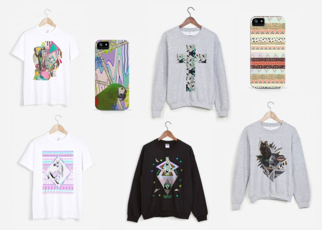art design rad.co raaad vasare nar collaboration designer illustrator apparel fashion clothing art mixed media sweater jumper tee iphone case 5s 6 sweatshirt typography pattern leopard hipster animal print urban outfitters topshop flamingo cool  1