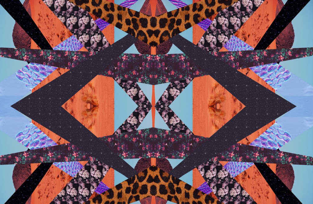 collage mixed media art textile print inspiration portfolio summer spring trend art abstract vasare nar
