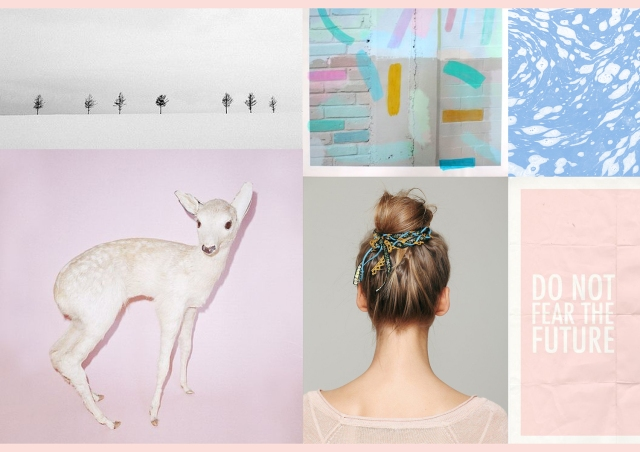 INSPIRATION PASTEL pinterest hair colour block typography mood board style fashion do not fear the future cool