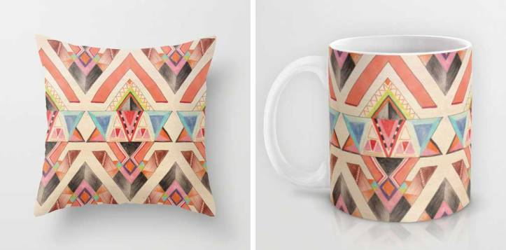 native-navajo-cup-pillow-dorm-interior-inspiration-aztec-tribal-cup-coffe-urban-outfitters-topshop-vasarenar-drawing-cool-