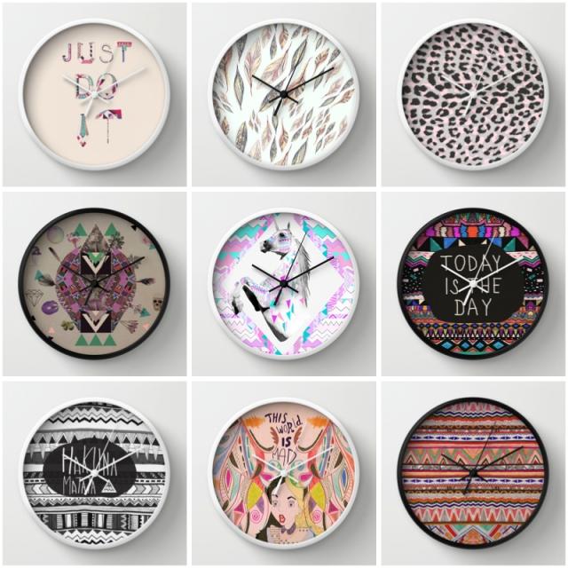 fashion design inspiration horse unicorn just do it typography watch clock