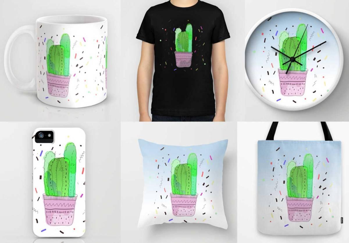 cactus-cactis-kaktusas-mug-tee-shirt-fashion-apparel-sweather-clock-mug-iphonecase-pillow-dorm-home-decor-urban-outfitters-illustration-vasare-nar-art-print-cool-society6-rad- cool how to draw
