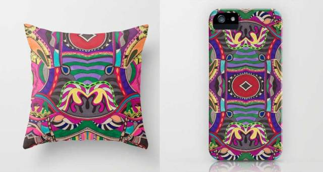 iphone-case-pattern-illustration-psychedelic-psy-trance-drawing-vasare-nar-line-spattern-cool-orange-blue-textile-pillow-dorm-home-decor-art-design-