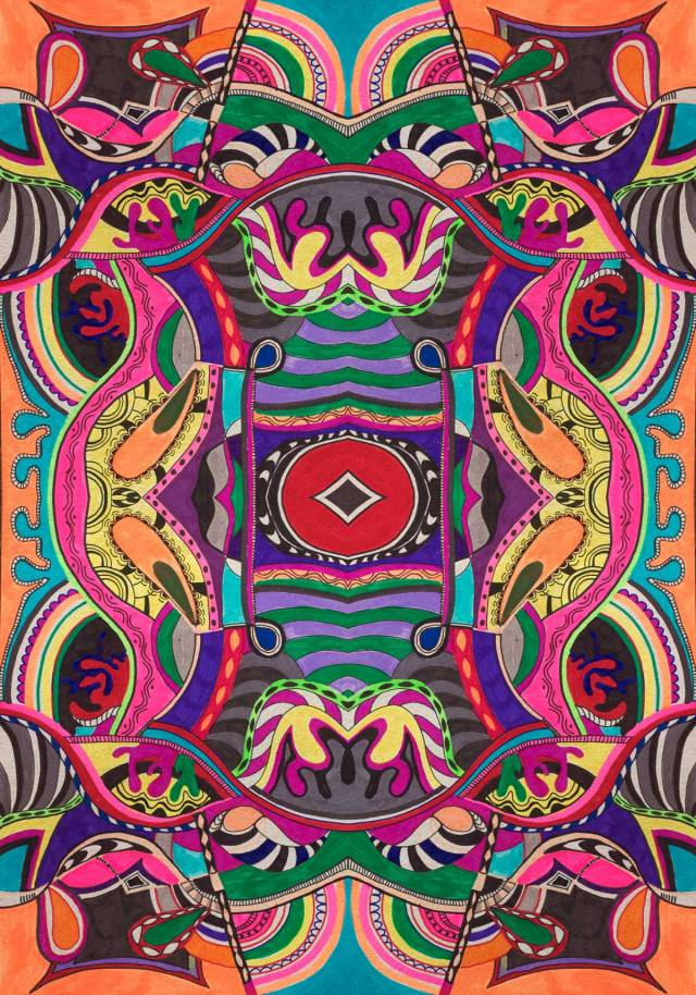 Psichedelic-haze-pattern-abstract-illustration-psy-trance-decoration-drawing-dizainas-menas-iliustracija-vasare-nar-brish-colours-textile-print-summer-trend-2015-2016-