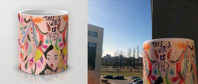 THIS WORLd is mad alice in wonderland cup cool society6 vasare nar copy