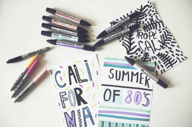 drawing-illustration-typography-fashion-apparel-freelance-designer-illustrator-sharpies-markers-tropical-california-summer-80s-style-trend-work-in-rpogress-work-space-