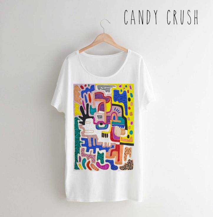 CANDY-Crush-t-shirt-fashion-style-trend-design-art-cool-drawing-freelance-textile-vasare-nar-designer-colourful