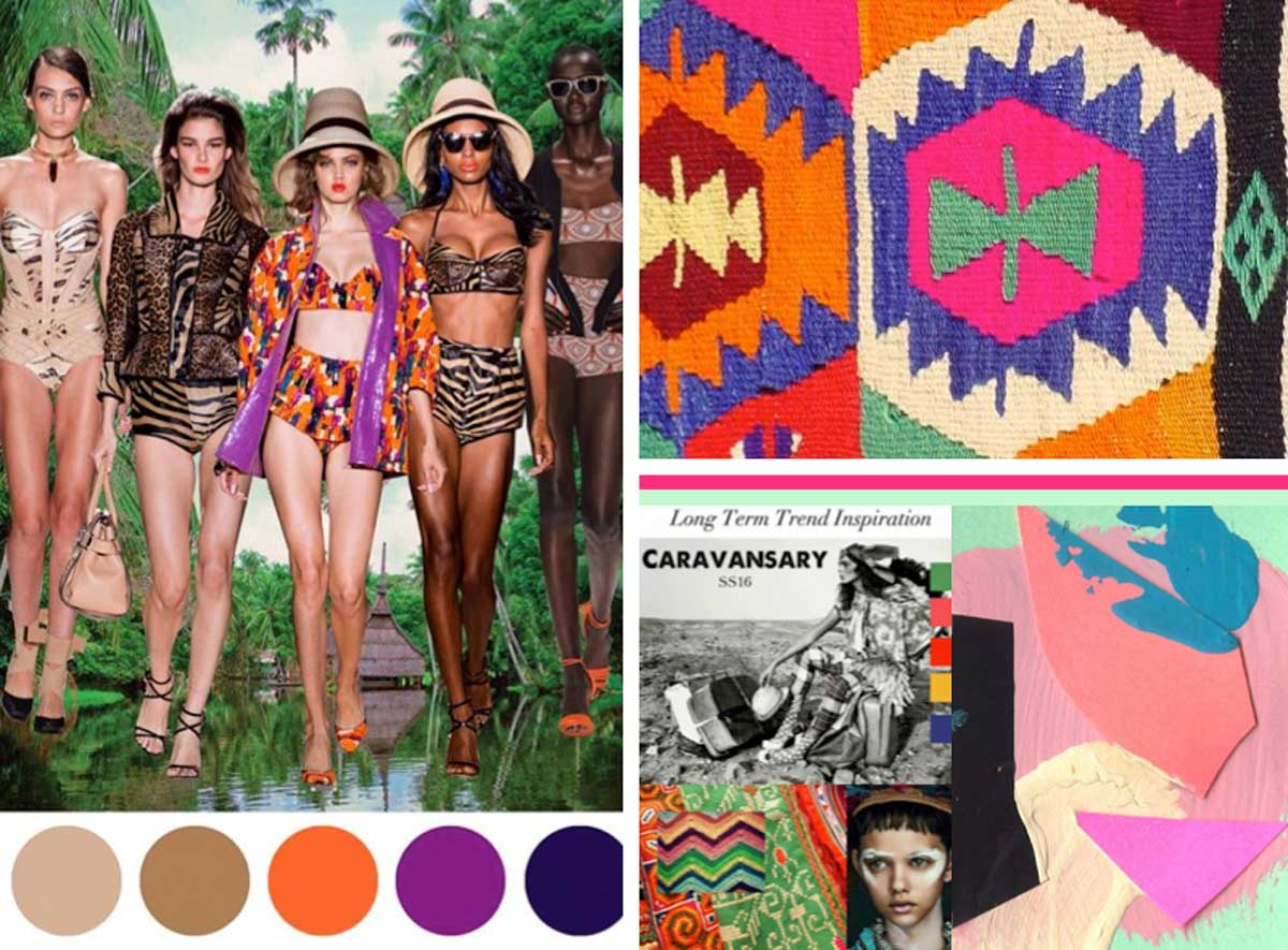 Fashion trend predictions 2017 - Print Pattern Trend Inspiration Textile Colours Moodboard