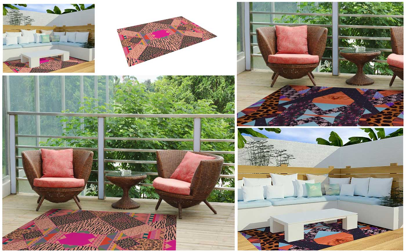 Indoor outdoor floor matt home decor interior dorm living for Outdoor home accessories