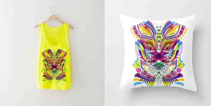 psychonaut-fashion-art-design-society6-pillow-psychedelic-art-creative-vasare-nar-illustration-style-topshop-urban-outfitters-