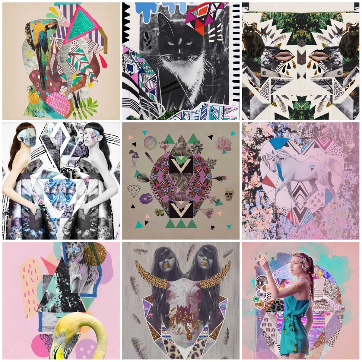 10 Examples Of Mixed Media Collage Art To Inspire You Graphic Design Creative Advertisement