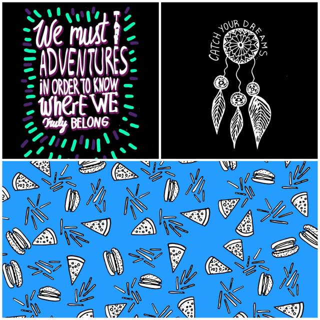 vector-fashion-new-pattern-design-illustration-inspiration-artist-designer-burgers-tumblr-catch-your-dreams-adventures-typography-cool-vasare-nar