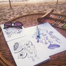 drawing-beach-illustration-freelance-designer-vasare-nar-abstract-psychedelic-cool-artisitc-graphic-line-drawing-sihanoukville-cambodia