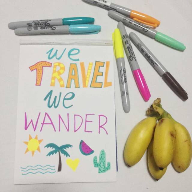 we-travel-we-wander-drawing-art-illustration-typograhyp-thailand-asia-banana