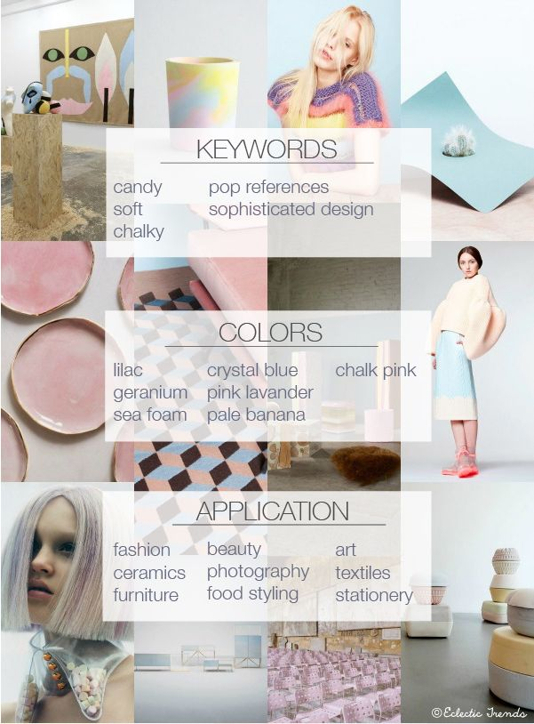 fashion mood board trend inspiration spring summer 2015 2016 2017 pastel clothing cool design lilac pantone
