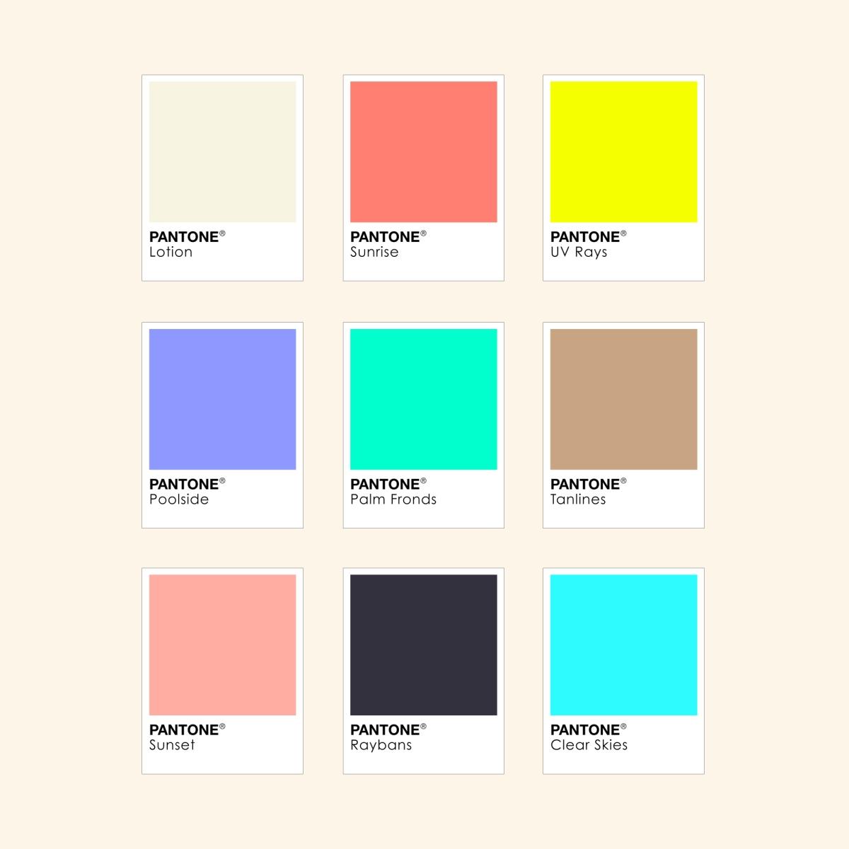 A designer s summer in pantone colours by designer wesley for Pantone paint colors