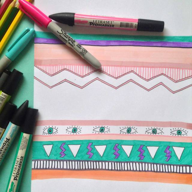illustration-pattern-summer-fashion-textile-inspiration-cool-design-eye-vasare-nar-society6-markers-sharpies-promarker-wip-work-in-progress-freelance-pattern-designer-