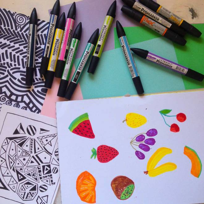 Vasare nar art fashion design blog for Cool things to draw with markers