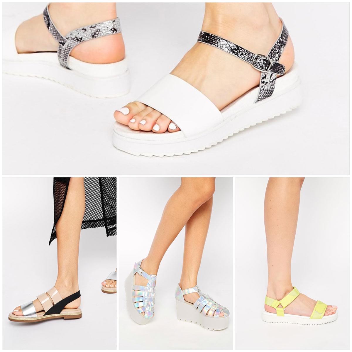Summer Sandals Asos Fashion Style Platform Summer 2016 2015 Trend Inspiration Pastel Cool Trendy