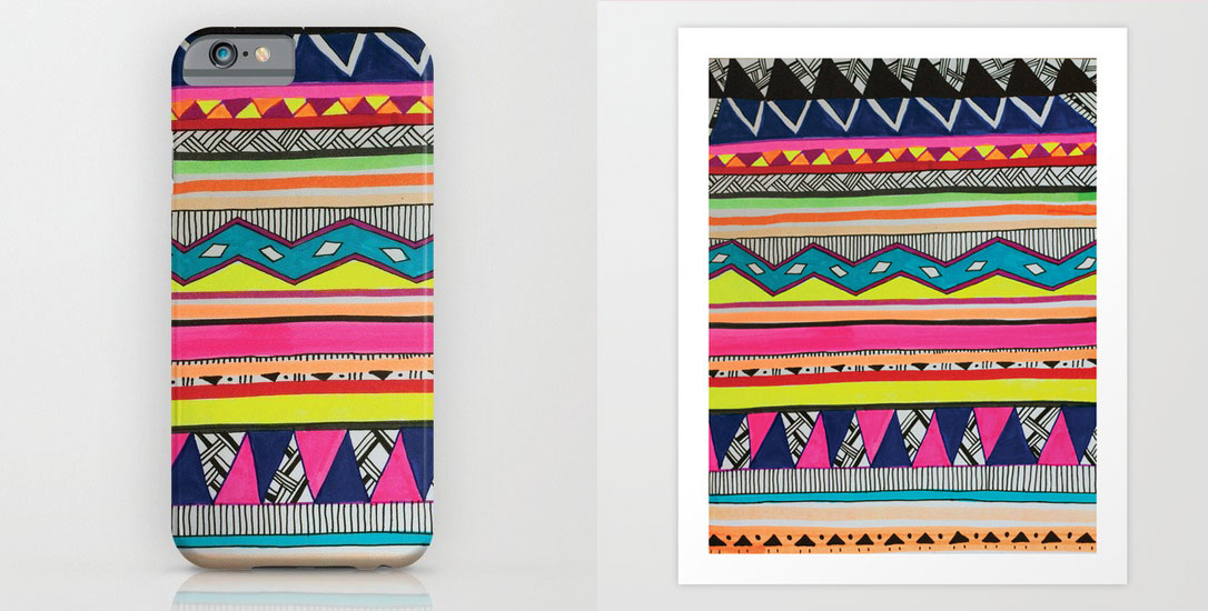 elle-magazine-style-fashion-feature-vasare-nar-society6-aztec-tribal-phone-case-