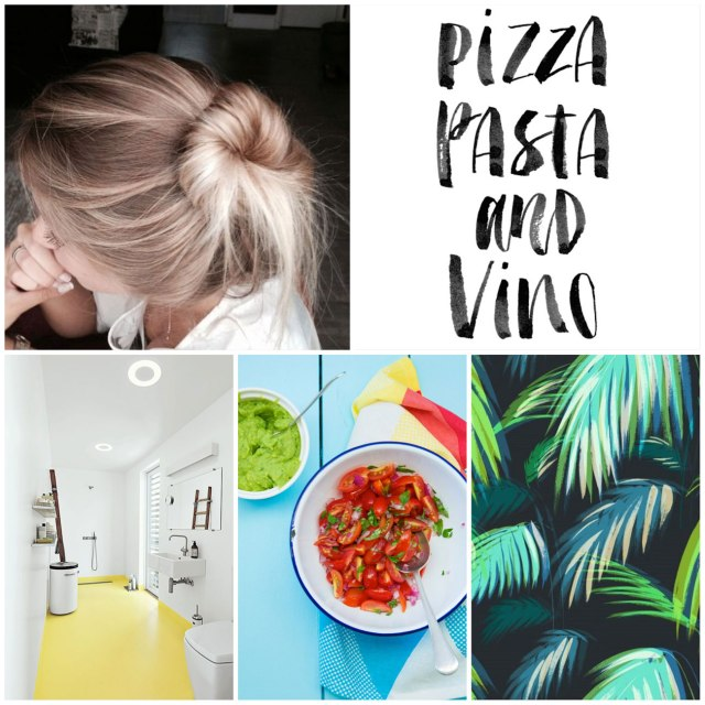 fashion-style-inspiration-pinterest-moodboard-cool-pastel-fashion-stylish-hair-blonde-print-textile-colour-bold hair tropical cool food cooking lettering