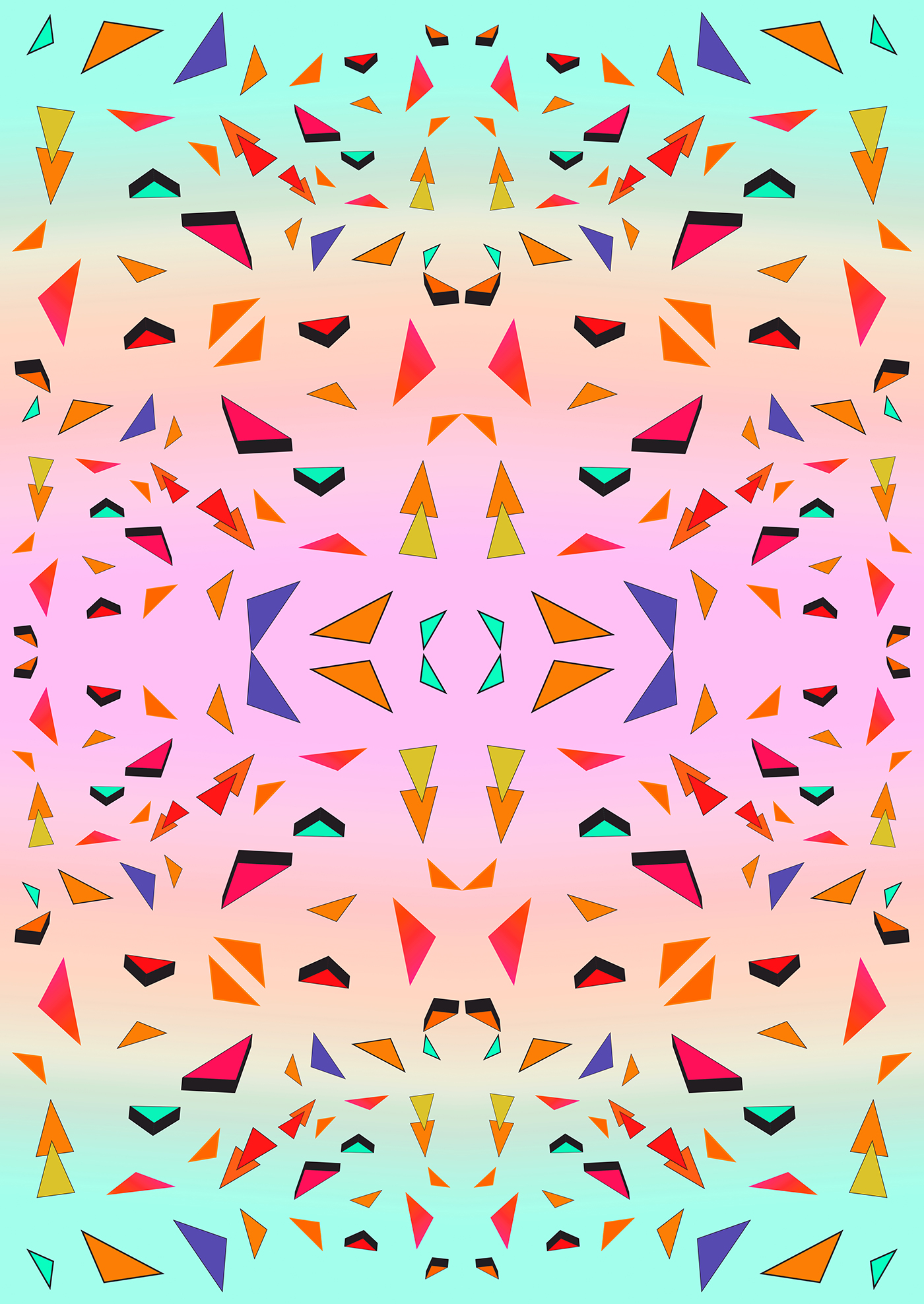 triangle tropical geoemtric pattern behance