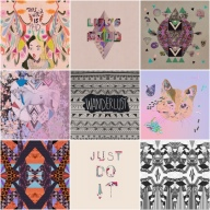 vasare nar design collage mixed media art alice in wonderland hakuna matata designer artist freelanc just do it typography fashion style trend topshop urban outfitters quirky aztec tribal navajo textile fabric christmas gift idea wanderlust cat