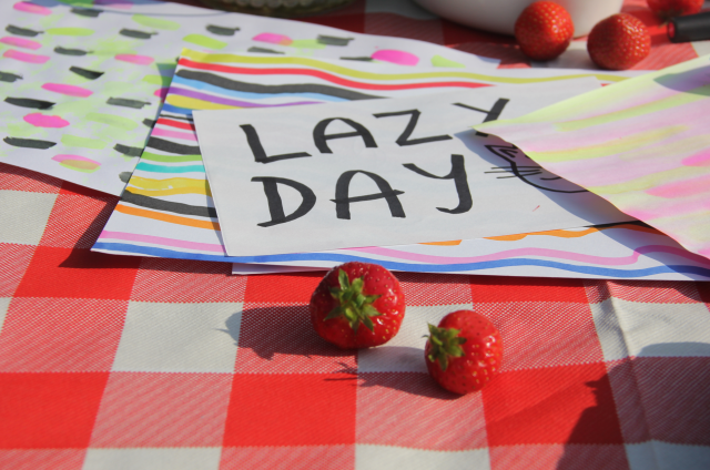 sunday lazy daug photography strawberries lifestyle ypography
