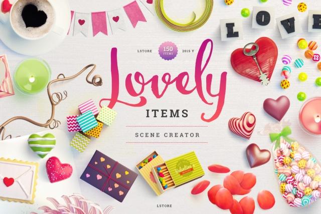 lovely valentines scene creator heart blogger design tool