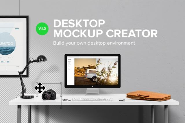 desktop mock up creator creative market designers tool cool