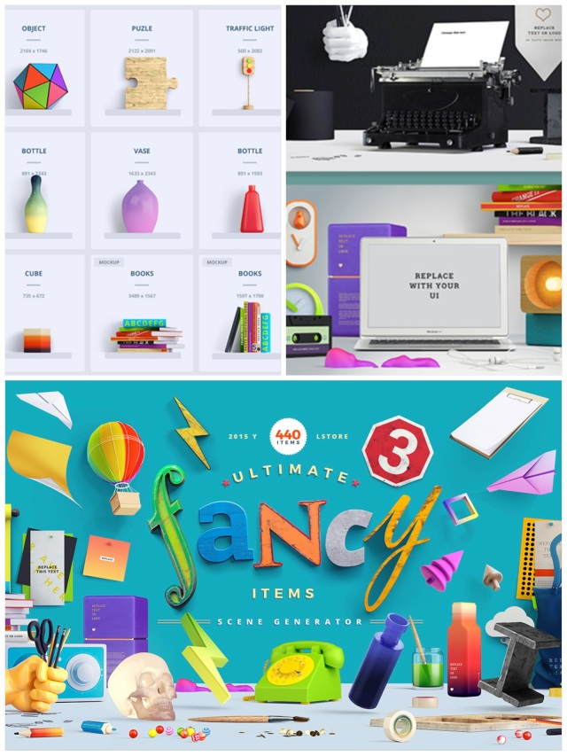 fancy scene creator mock up cool psd photoshop creative market designer tools