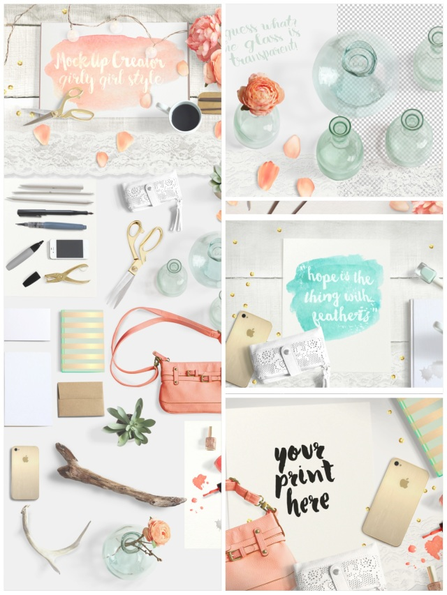 girly mock up scene creator creative market vasare nar blogger fashion tools designer
