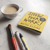 think-process-not-product-book-austin-kleon-inspiration-motivation-book-typography-promarkers-artist-review-art coffee