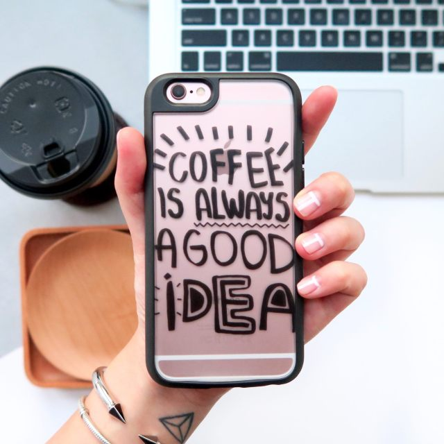 iphonce case casetify coffee is always a good idea iphone 6 cute typography quote 2