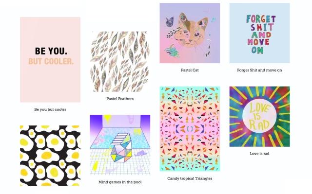 zippi art print home decor vasare nar illustration portfolio pastel typography cool