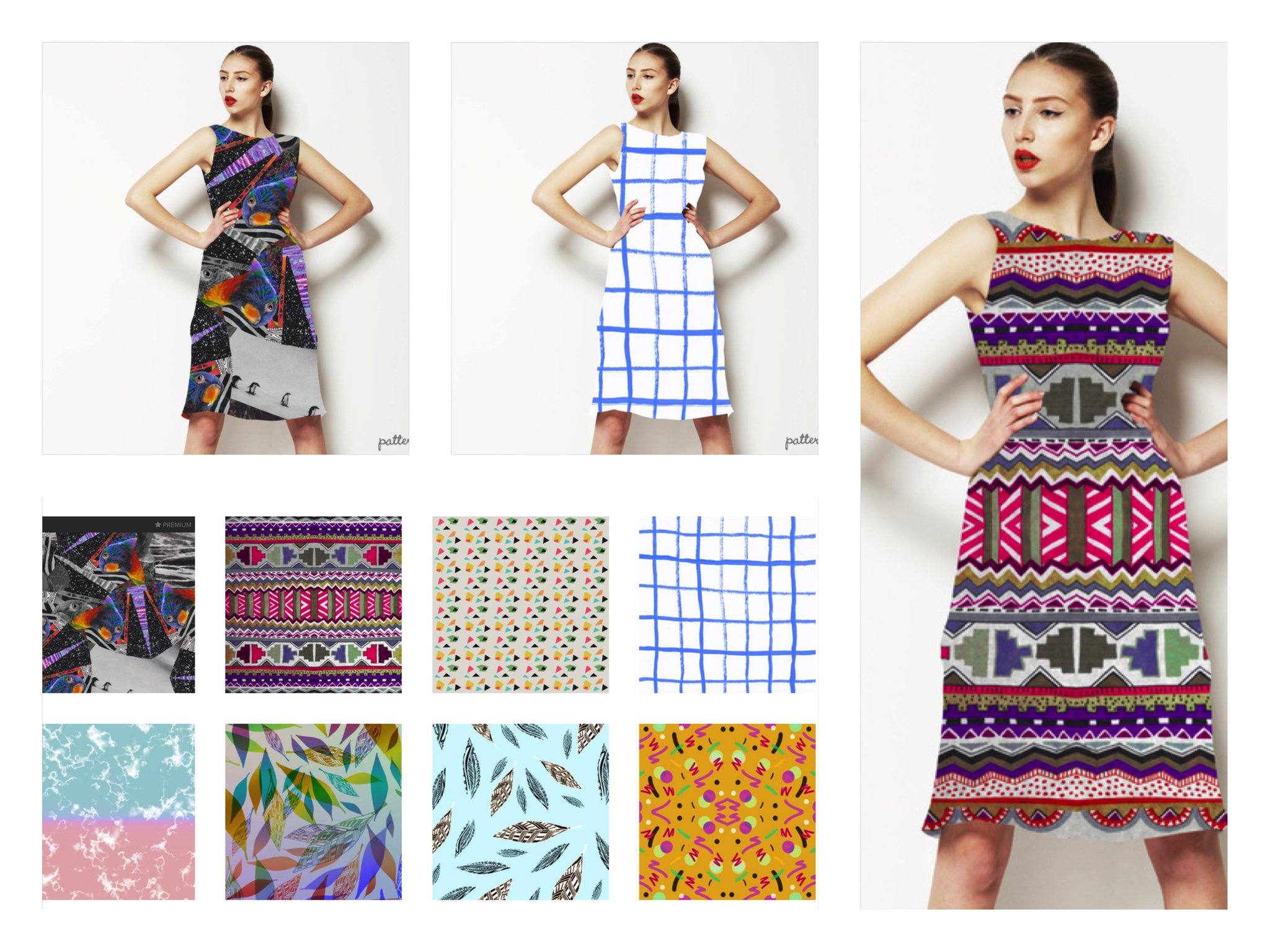 patternbank fashion textile art design illustration aztec tribal native